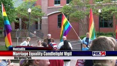 News video: Marriage equality candlelight vigil